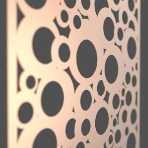 Bubbles Corten Steel Decorative Screen