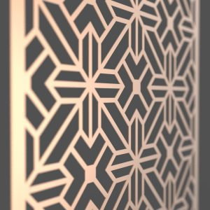 Cairo Corten Steel Decorative Screen