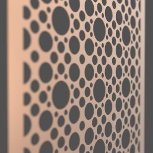 Circles Corten Steel Decorative Screen