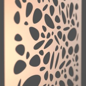 Pebble Corten Steel Decorative Screen