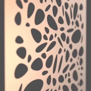 Pebble Corten Steel Decorative Screen