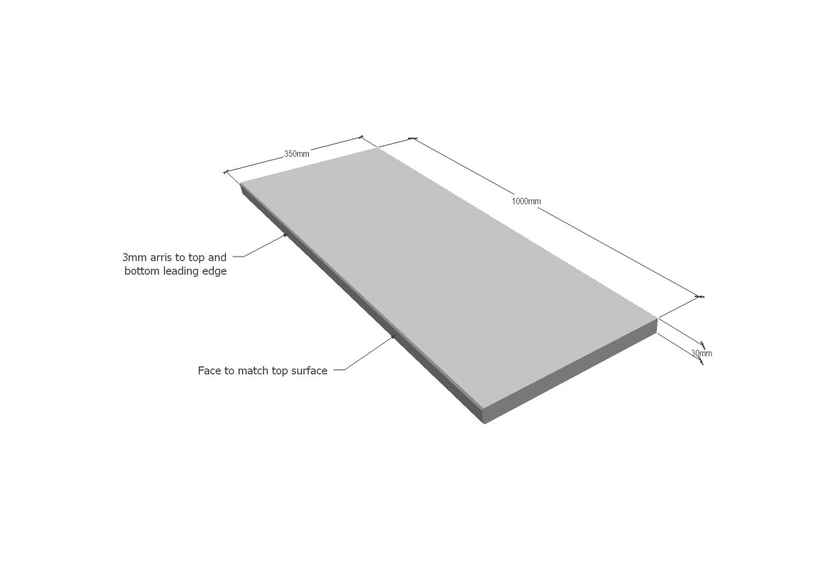 BLUESTONE GRAPHITE SINGLE SQUARE EDGE 1005X350X30 ($/UNIT)