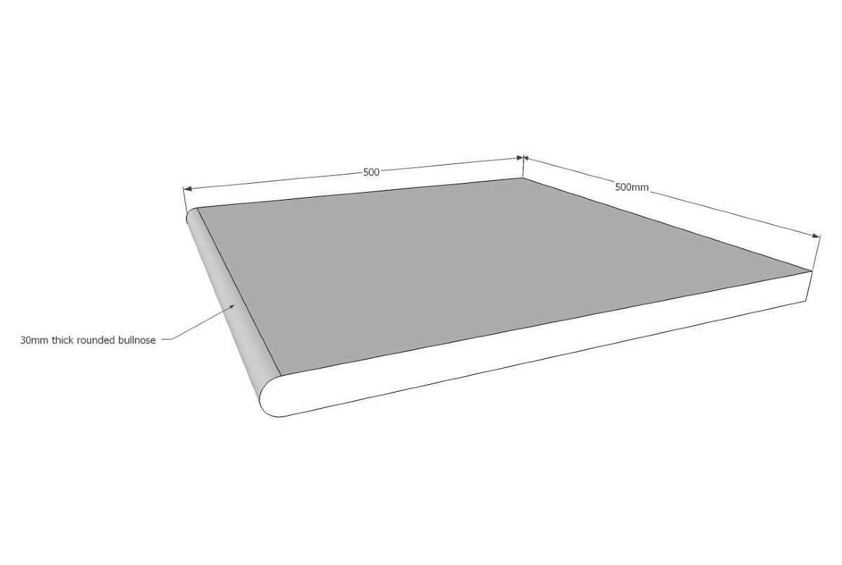 Simpson Sandstone Bullnose 600x400x30 mm ($/unit)