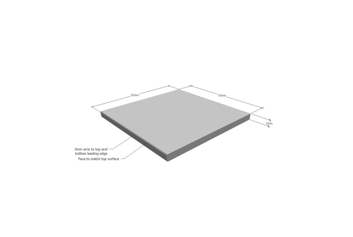 BLUESTONE GRAPHITE SINGLE SQUARE EDGE 500X500X30MM ($/UNIT)