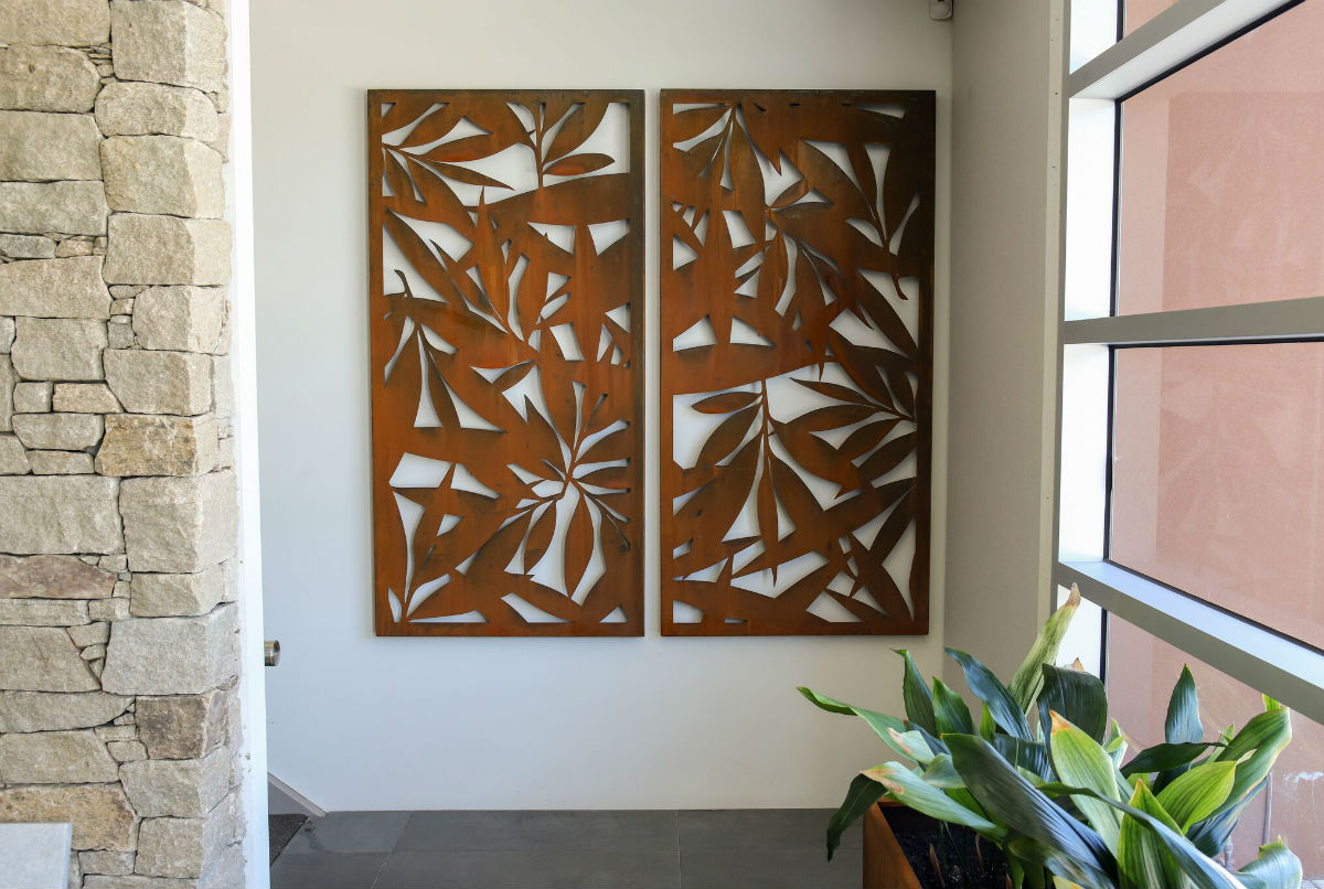 DECORATIVE SCREEN LEAVES DOUBLE ($/double)