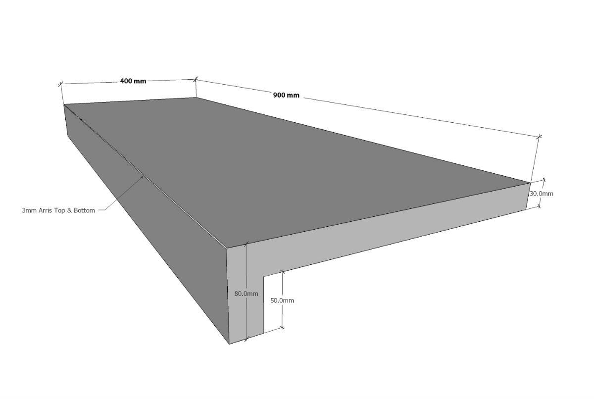 LIMESTONE ROCHEVAL RSE 900X400X30/50 (80) ($/UNIT)