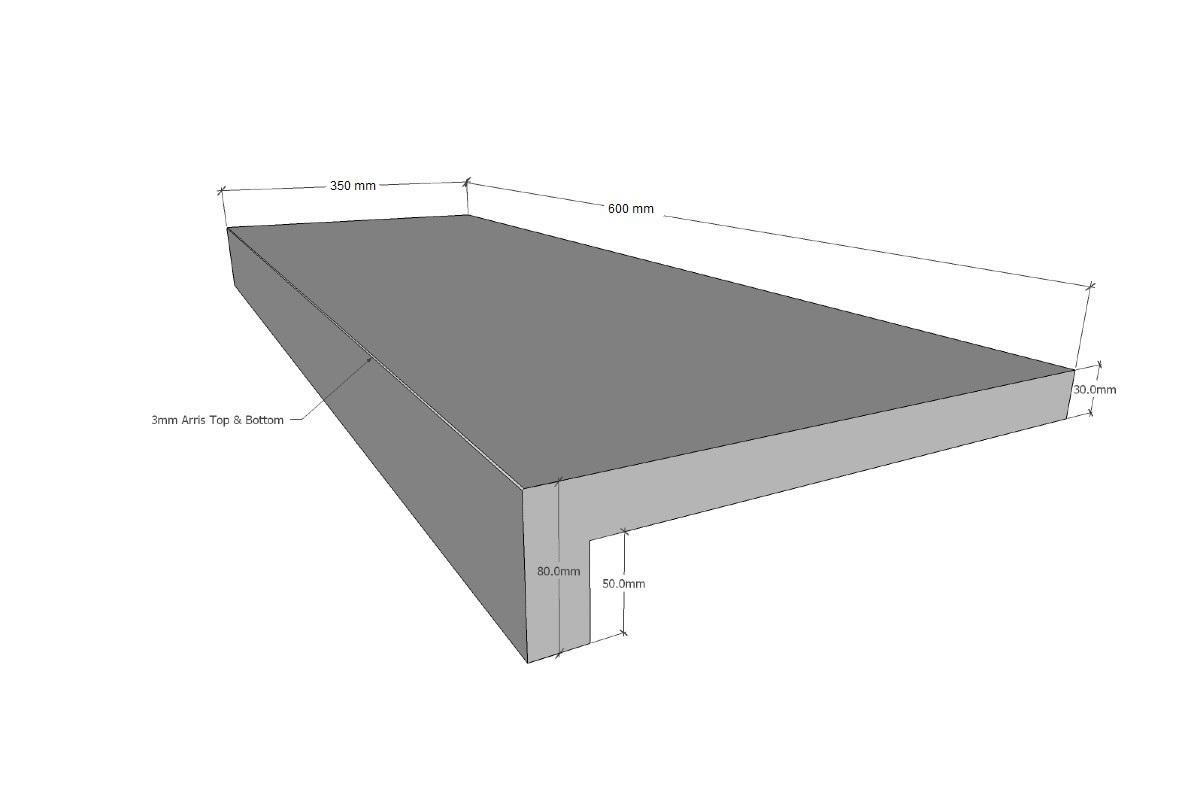 BLUESTONE GRAPHITE RSE 800X400X30/60 (80) ($/UNIT)