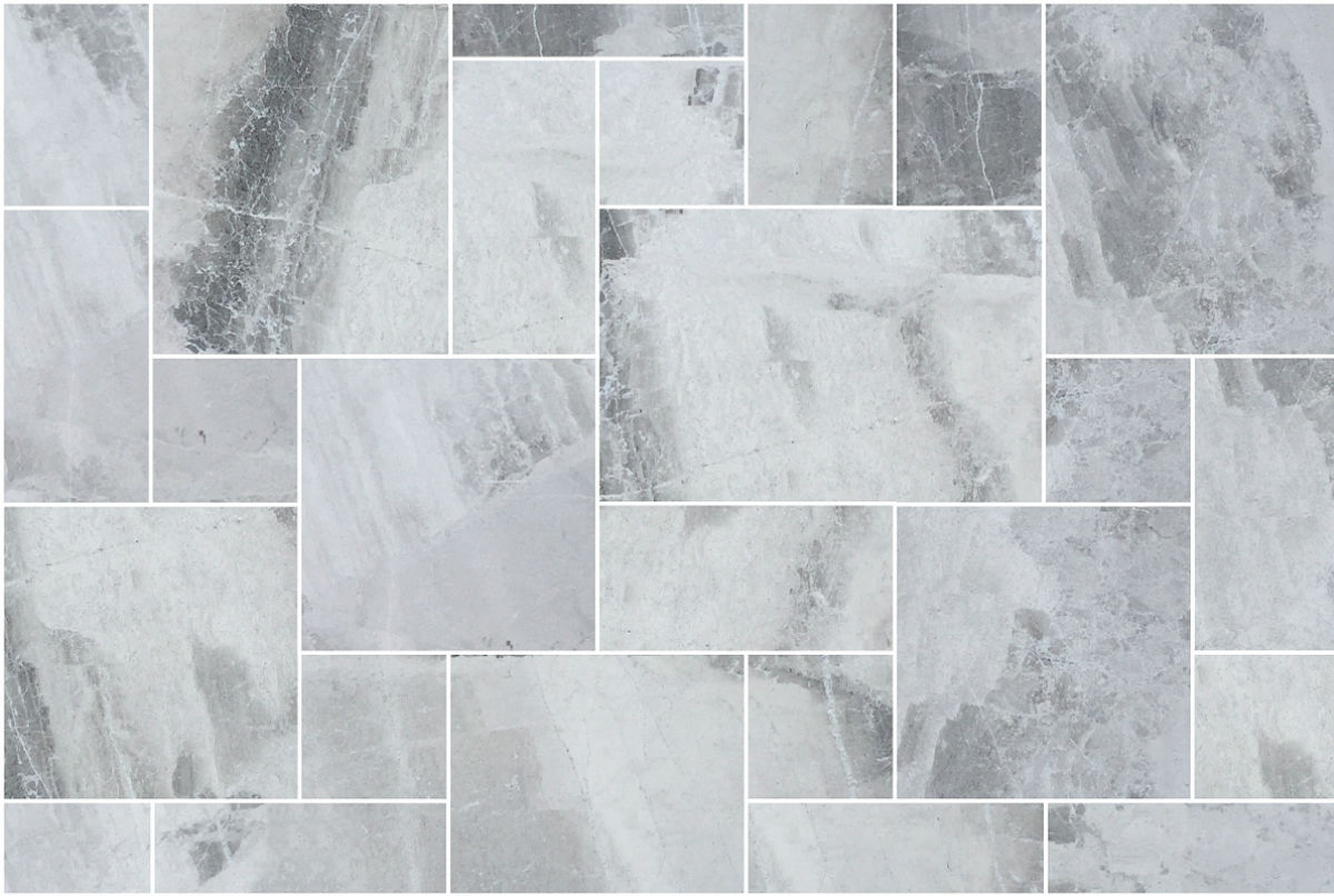 MARBLE OSTRICA GREY FRENCH PATTERN 12mm ($/sqm)